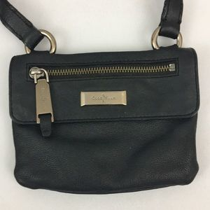 Cole Haan small leather black purse adjustable